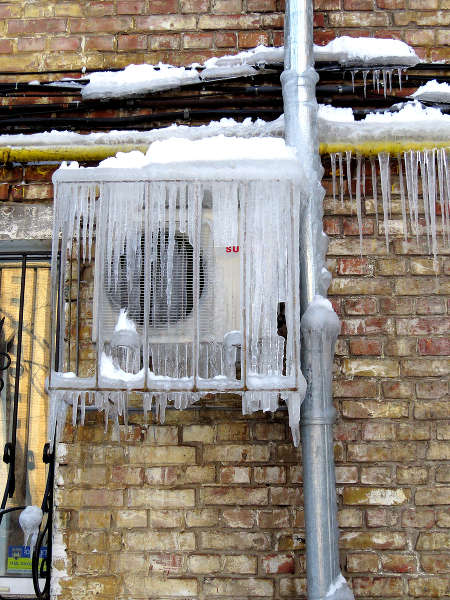 icicles on Air Conditioners